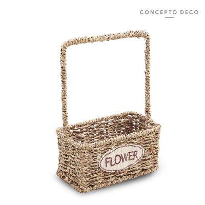 CANASTA FLOWER RECTANG 24CM ALTO