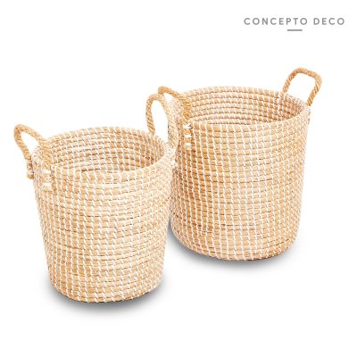 CAN SEAGRASS BLANCO X2 G:30x27 M:27x26