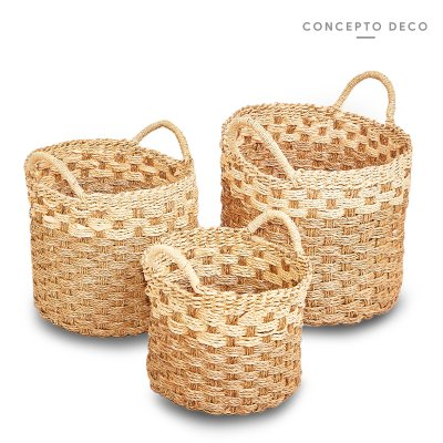 CAN SEAGRASS BICOLOR x3 32x33D / 30x26D / 28x20D
