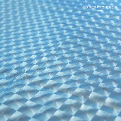 CORTINA 3D BLUE CUADRITOS